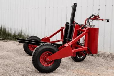 Transpalette tout-terrain 1200, capacité 1200 kg, 1 roue motrice, moteur 10 CV essence DM