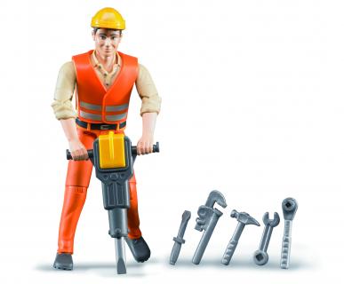 Ouvrier avec accessoires 1:16