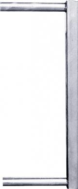 Tube 45x45 pour fin de cornadis veaux,pour verrou automatique TS et éléments de visserie avec embout 34 mm