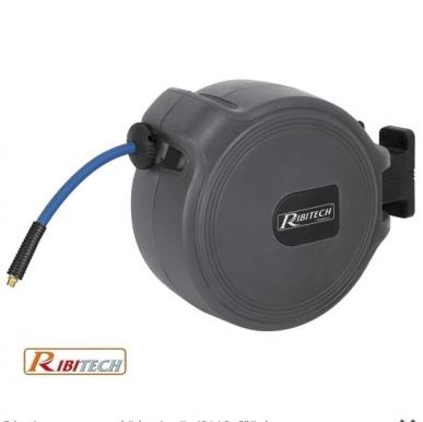 Tuyau à air comprimé avec enrouleur automatique 9 + 1m Ribitech