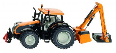 Tracteur Valtra avec faucheuse d'accotement Kuhn Siku 1:32