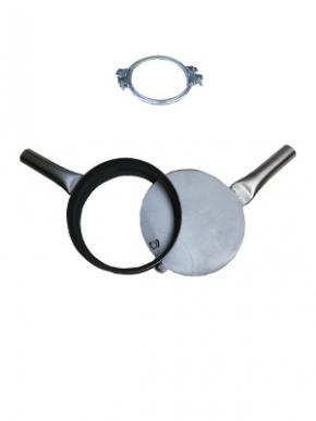 Vanne de fermeture galvanisée collier de serrage inclus