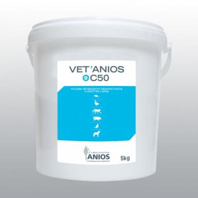 Poudre détergente désinfectante à spectre large Vetanios c50 - seaux de 5kg