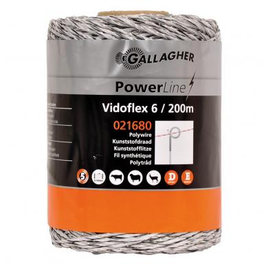 Vidoflex 6 blanc 200m