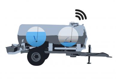 Capteur de niveau VigiAqua pour tonne à eau