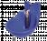 Abreuvoir pour bétail et chevaux, en plastique, avec poussoir, bleu