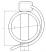 Goupille Clip Tube 8 X 40 - sachet de 5 pcs