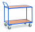 Servante  Charge 300 kg  - 2 plateaux  - Barre de poussée verticale