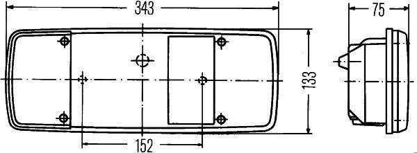 2SK 003 567-661 HELLA Combinaison Feu Arrière