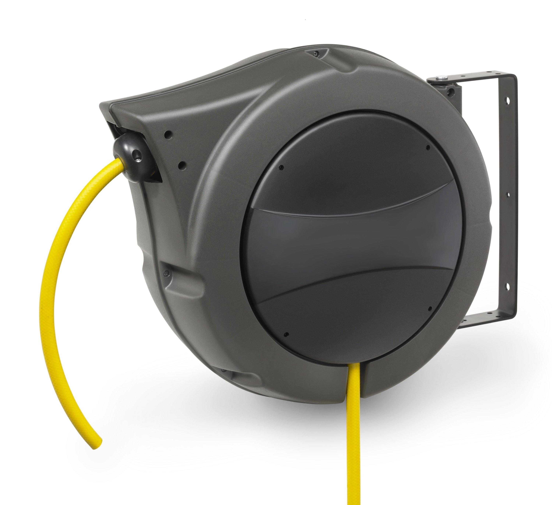 Cache Tuyau Sous Chaudiere enrouleur de tuyau à rappel automatique - air et eau - 18 mètres - 6 bars