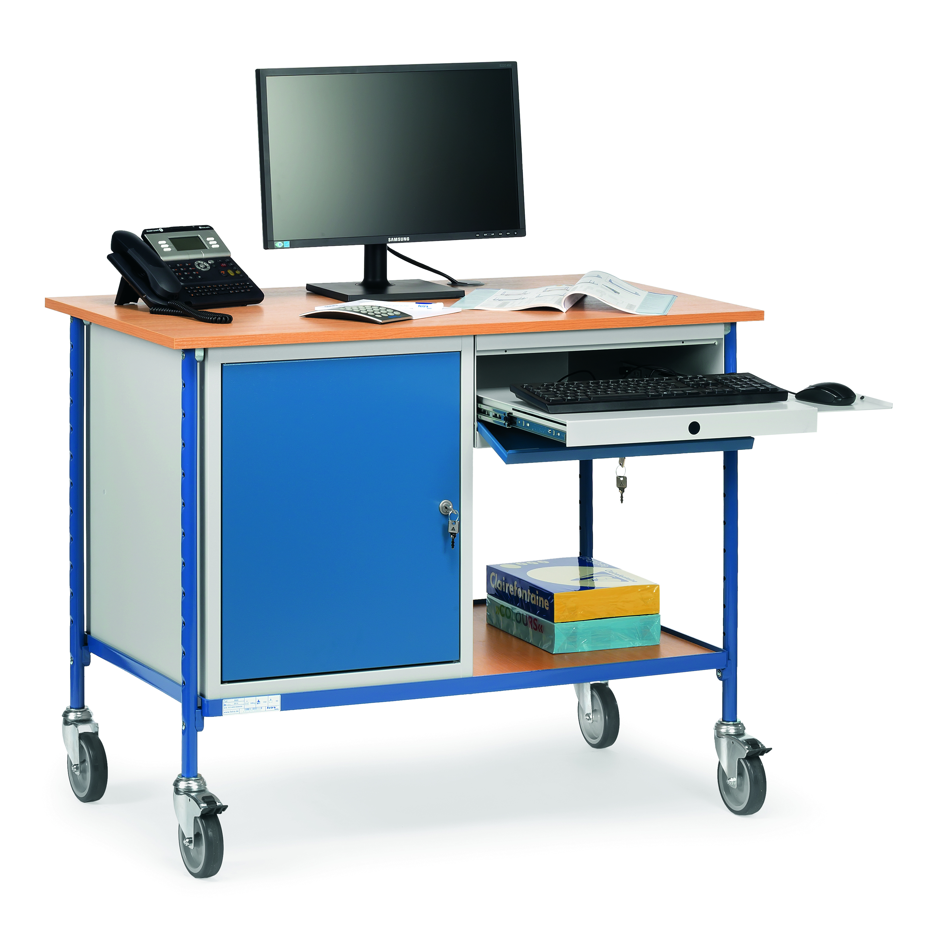 Table roulante Charge 7 kg - 7 tiroir - 7 placard